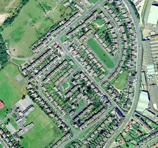Figure 2: The more angular street layout at St Helen's Estate.