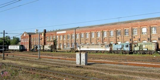 Figure 1: Doncaster Plant Works from Doncaster Station