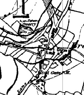 Figure 5 top): In 1851 the site of the later 'Bradgate' Industrial Settlement' was a small hamlet, typical of others in South Yorkshire thought to have originated as squatter settlements around common land