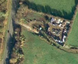 Figure 2(above): its site is shown on the aerial photograph in 1999