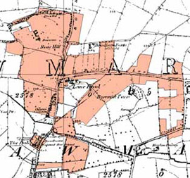 Figure 3a: 'Ryecroft and Sandhill, Rawmarsh' character area in 1851
