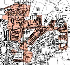 Figure 3c: 'Ryecroft and Sandhill, Rawmarsh' character area in 1938