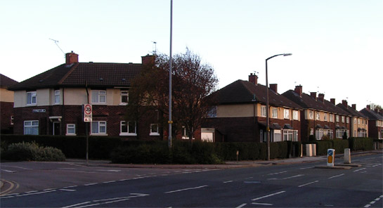 Figure 1: The edge of the 'Herringthorpe, Eastwood and East Dene' Character Area showing typical inter-war council housing.