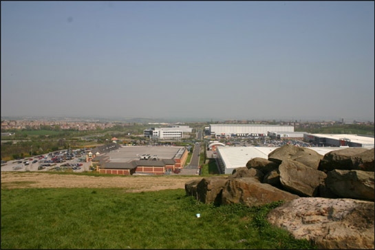 Figure 1: View Typical late 20th century warehouse retail development on the site of the former Cortonwood Colliery