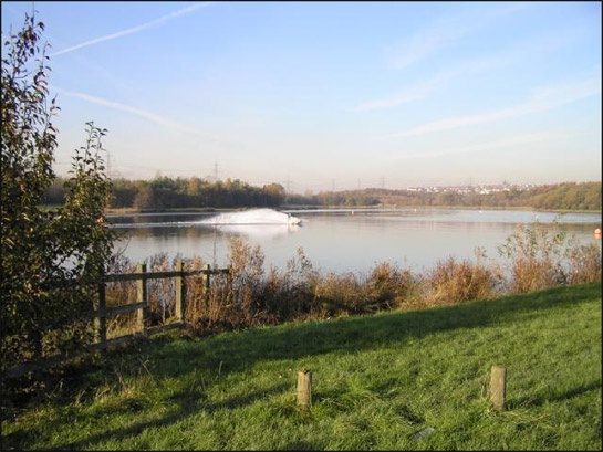 Figure 2: Artificial lake created by deliberate flooding of a former open cast coal extraction site at 'Rother Valley Country Park'