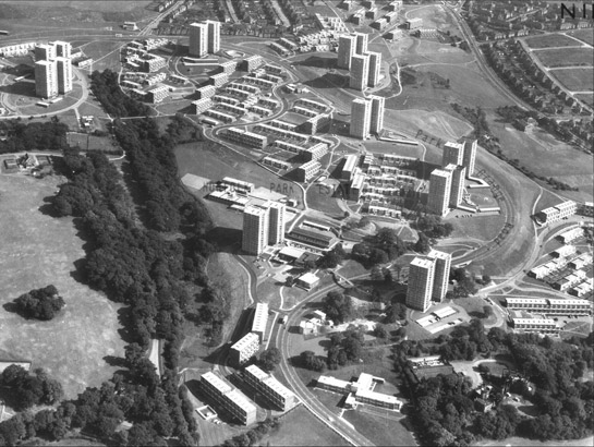 Figure 1: Norfolk Park Estate in 1969. Aerofilms © English Heritage National Monuments Record