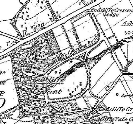 Text Box: Figure 6: Endcliffe Crescent, Sheffield. OS mapping